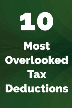 10 Most Overlooked Tax Deductions. A list of the most overlooked tax deductions when filing federal tax returns. Business Tax Deductions, Tax Refund, Tax Debt, Income Tax, Passive Income, Small Business Tax, Budgeting Finances, Financial Tips, Personal Finance