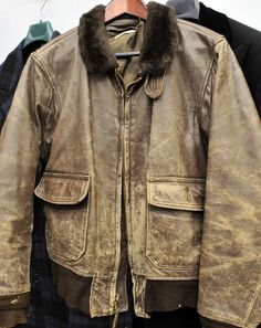 WWII Army Air Corps Leather Bomber Jacket