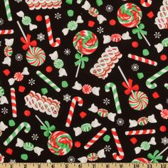 vintage christmas material | such a sucker for the sweets--this one is 'Christmas Candy' by A ...