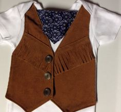 Comfortable Baby Cowboy or Cowgirl Fringed by UltraVioletGirl, $18.00
