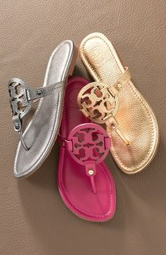Tory Burch 'Miller' Sandal... I have a serious addiction to these sandals, according to my closet. SO many colors available!