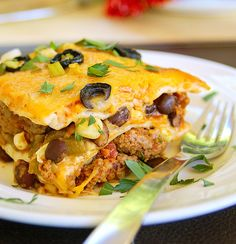 30- Minute Simple Mexican Lasagna #dinner #recipe