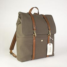 Frances May backpack inspiration - so simple if you made the straps out of something other than leather.