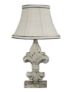 French Country Style Lamp with distressed detail.