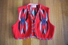 Vintage 1930s La Azteca Chimayo vest
