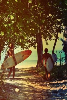 No need to sweat it out in doors...take your fitness outside! Go surfing! Bring your Karma Wellness Water BALANCE along ;)