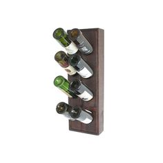 This wine riddling rack features beautifully hand stained wood. The compact design holds 8 bottles and takes up very little space which makes it ideal for apartments, condos or cabins. Great gift for the wine lover in your life. ➤ DIMENSIONS: 27H x 9W x 3.5D. ➤ Crafted of Western