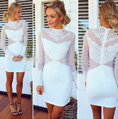 $33.00 | sexy Long-sleeved lace dress  AS107G