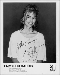 Emmylou Harris | Autographed photo I bought at one of her ...
