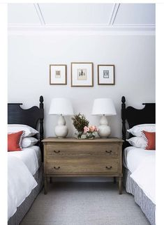 41 Classy Bedrooms Twin Beds Ideas For Small Rooms. Ever since one can remember, twin bed frames have been in homes around us. What does the term twin bed imply? Home Bedroom, Kids Bedroom, Twin Bedroom Ideas, Bedroom Furniture, Twin Bed Room, 1930s Bedroom, Spa Bedroom, Bedroom Headboards, Black Furniture