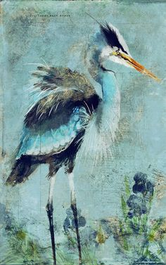 Introducing artist Anthony Morrow's gorgeous art interpretation of a Great Blue Heron.