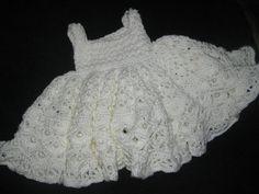 crochet christening gown...so cute