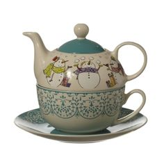 Snowman Tea for One | Christmas China | Whittard of Chelsea