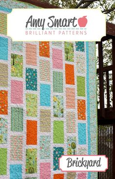 Brickyard Quilt Pattern and instructions by @amyusmart on @GoToPatterns