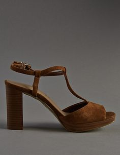 36997be6cc17a1 Stain Away™ Suede Platform T-Bar Sandals with Insolia®