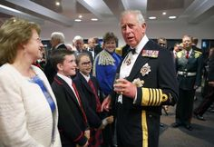 Prince Charles shares a laugh with some children after the event