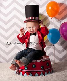 Ring Leader Onesie, Jacket, and Top Hat. (This is sooooo darn cute!)