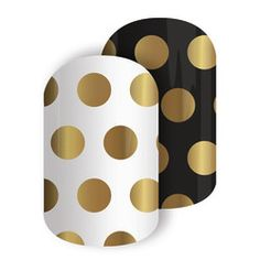Opulence   Jamberry   Gold shine take these oversized polka dots to the next level. Mix and match your mani for a cute but stunning mani that goes with anything in your wardrobe.