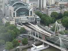 Charing Cross Station from the London Eye.