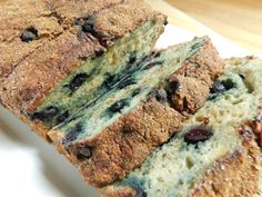 Cinnamon sugar topped blueberry banana loaf