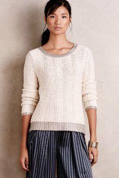 Glimmer-Banded Pullover #Anthropologie