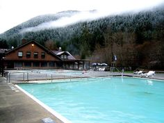 Sol Duc Hot Springs features three mineral pools, a freshwater pool and a children's wading pool. National Park Lodges, Us National Parks, Spring Resort, Hotel Motel, Hot Springs, Pacific Northwest, Shades Of Green, Travel Usa, Places To See