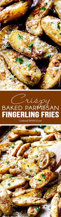 Baked Parmesan Fingerling Potato Fries