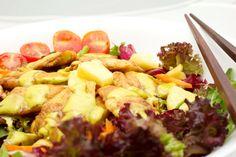 #Ensalada Satay con #Pollo y Piña aderezada con salsa #Curry