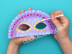 Paper Plate Masquerade Mask - How to Make Cool and Funny Paper Masks with Kids Paper Plate Masks, Paper Mask, Paper Plates, Projects For Kids, Diy For Kids, Art Projects, Crafts For Kids, Arts And Crafts, Youth Camp