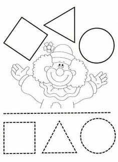 Preschool Circus, Circus Activities, Circus Crafts, Learning Activities, Preschool Activities, Clown Crafts, Shapes Worksheets, Kindergarten Worksheets, Decoration Cirque
