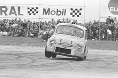 Internationales Flugplatzrennen Tulln-Langenlebarn 1969 Karl Wendlinger (6) auf Abarth 1000 Fiat 850, Fiat Abarth, Porsche, Automobile, Jeep Willys, Steyr, Motor Sport, Car Photos, Fast Cars