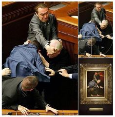 Life Is Art: This Photo of a Ukrainian Parliamentary Brawl Is Composed Like a Renaissance Painting | Co.Create | creativity + culture + commerce