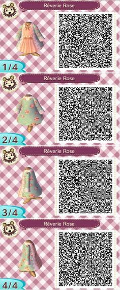 """animalsandmacarons: """" This cute QR code gives me life I swear! It's my favorite print (Blue and Pink Floral Over coat) with a nice peach colored dress underneath. Be sure to join my ACNL Give away! You could win FREE ITEMS FOR YOUR GAME! Give away is..."""