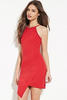 Red Asymetrical Dress