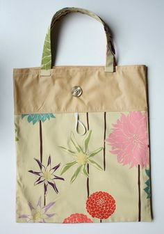 Tutorial to make a fold up tote! Perfect to take along to the grocery store!