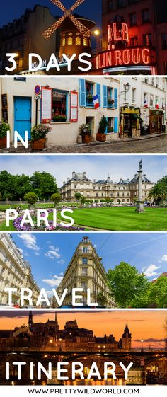 #PARIS #FRANCE #EUROPE #ITINERARY | Three days in Paris | What to see in Paris | What to do in Paris | Paris, France | Paris travel | Romantic city in Europe | Paris Itinerary | Visit Paris | Trip to Paris | Places to visit in France | Places to visit in Europe