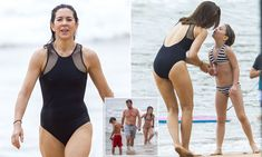 Princess Mary and her family enjoyed a beautiful low-key day out at Sydney's Palm Beach on Friday, complete with body boarding, beach football and somersaults in the sand.