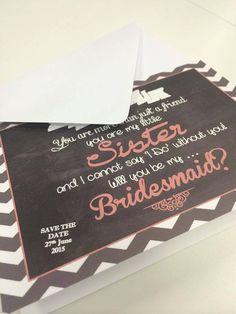 Will you be my bridesmaid  bridesmaid invite by PrettyLaneWeddings, £4.00