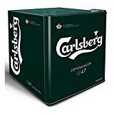 This branded Carlsberg mini fridge has a surprising 48 litre capacity.  This means you can chill 40 330ml/440ml cans or 12 bottles of wine to between 0 degrees and 12 degrees.  Ideal for homes with limited kitchen space, student houses or even the man cave. Would also make an ideal gift for the beer loving Dad.