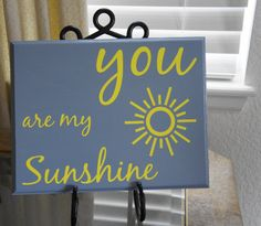 You are my sunshine. Sun. Grey and Yellow. Solid by Frameyourstory, $32.95