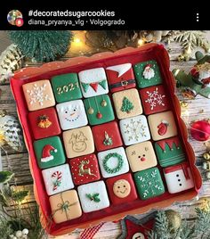Royal Icing Cookies, Cake Cookies, Sugar Cookies, Christmas Cookies, Christmas Holidays, Xmas, Christmas Ideas, Pastry Design, Cookie Decorating
