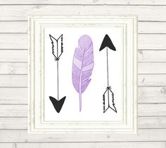 Feather Arrow Print Purple Plum Lavender by PetitePrintingDesign Coupon code: 25OFF for 25% off at checkout!