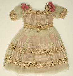 Dress,1865–1870,American; cotton, silk.  Dimensions:  Length at CB: 16 1/4 in. Length at CB: 14 1/2 in. Waist: 21 in.