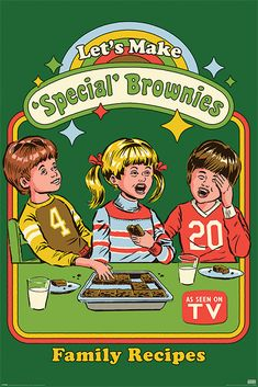 Steven Rhodes Lets Make Special Brownies - plakat Bedroom Wall Collage, Photo Wall Collage, Picture Wall, Room Posters, Poster Wall, Poster Prints, Trippy Wallpaper, Cartoon Wallpaper, Bizarre Art