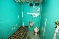 One of the cells at West Virginia Penitentiary