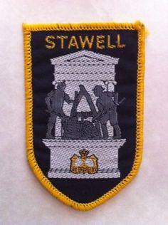 Vintage Australian Souvenir Cloth Badge / Patch - Stawell Gold Mining