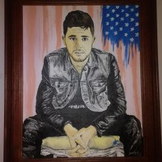 My painting of Colton Pack of Restless Road that i painted and gave to him for Christmas 2013! Reference photo for painting by Nathan Kistler! #ColtonPack #RestlessRoad #RestlessRdMusic #NathanKistler #Country #Music #America #Merica #WestVirginia #painting Restless Road Fan Art RRFanArt Emily Greeson
