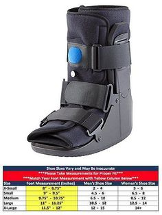 Orthotics Braces and Sleeves: New Medium Short Air Cam Walking Boot Brace Ankle Foot Sprain Medical Sports BUY IT NOW ONLY: $49.95