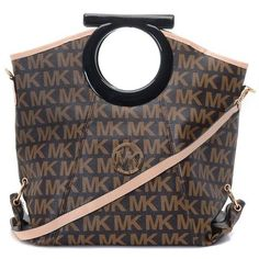 Michael Kors Signature MK Logo Clutches Brown