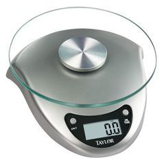 Digital scale that works and looks great. Love that you can put a bowl or plate on and zero it out, then put your food on.